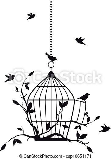 vogels, vector, kosteloos - csp10651171
