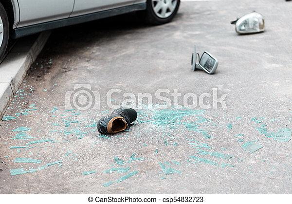 vogn rolle, gade - csp54832723