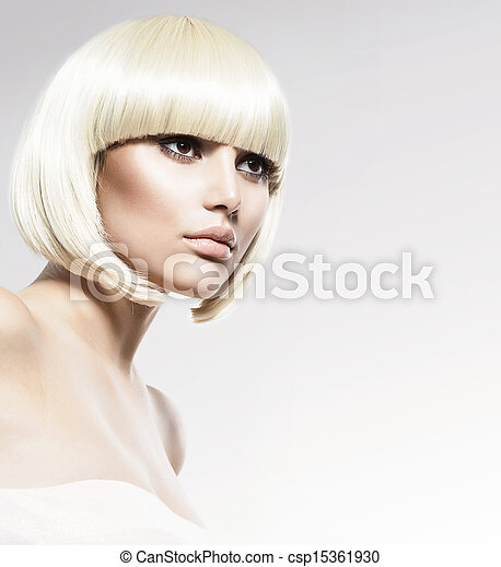 Vogue Style Beauty Fashion Model Portrait. Haircut  - csp15361930