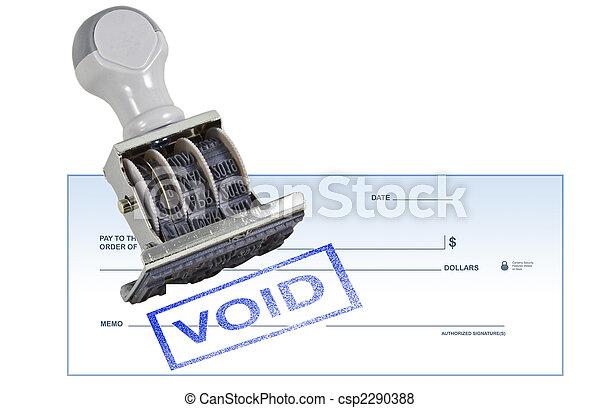 Void Blank Check - csp2290388