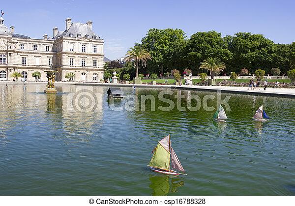 Voile Bois Luxembourg Parc Paris France Traditionnel Bateau