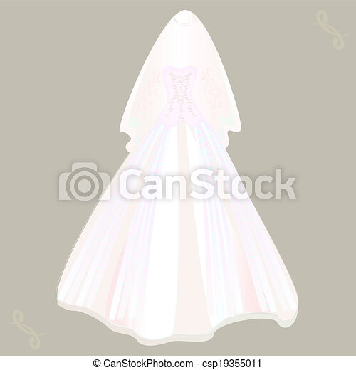 Voile Robe Mariage Canstock