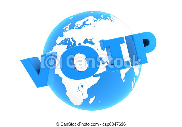 VoIP Around the World - Glossy Blue - csp6047636