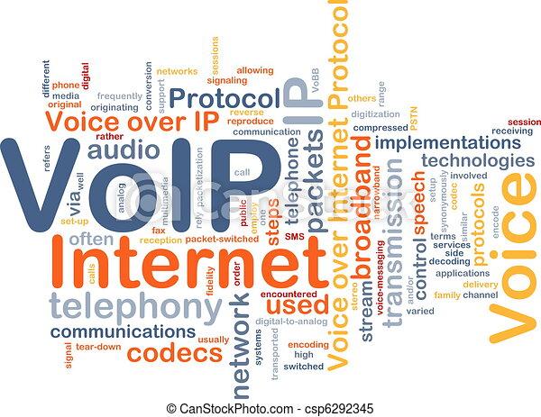VoIP background concept - csp6292345