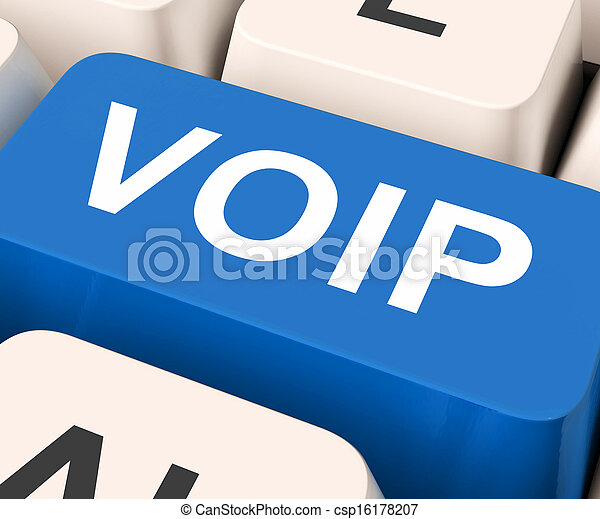 Voip Key Means Voice Over Internet Protocol  - csp16178207
