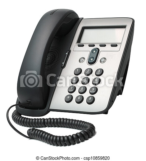 VoIP Phone isolated on white background - csp10859820