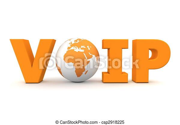 VoIP World Orange - csp2918225