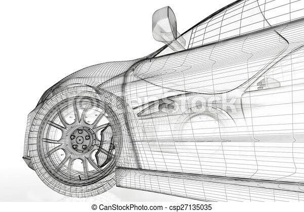 Voiture 3d plan rendu voiture image arri re plan v hicule mod le blanc 3d - Modele dessin voiture ...