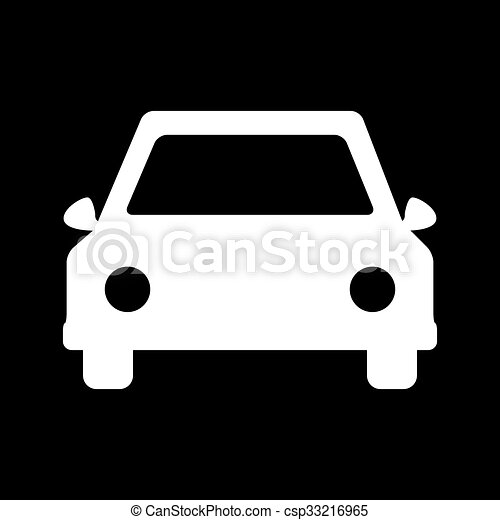 voiture blanc ic ne voiture blanc noir icon vector clip art vectoriel rechercher des. Black Bedroom Furniture Sets. Home Design Ideas