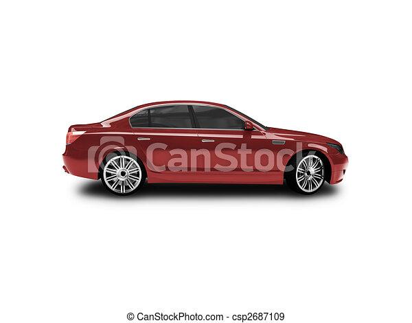 voiture c t isol rouges vue voiture blanc rouge illustration de stock rechercher. Black Bedroom Furniture Sets. Home Design Ideas