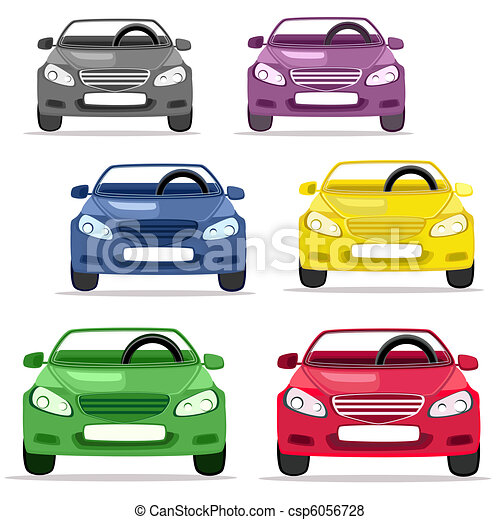 Voiture, cabriolet, couleurs, différent.