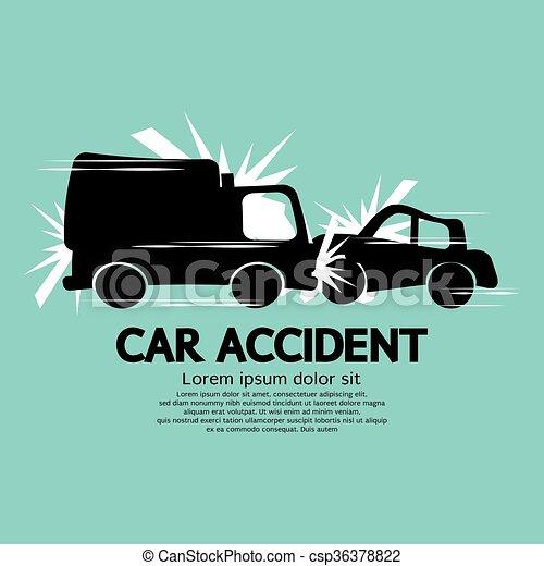 Voiture camion accident vecteur accident voiture camion illustration - Coloriage cars accident ...