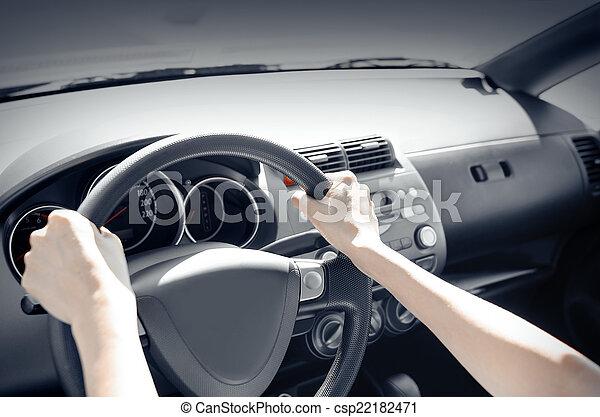voiture, chauffeur - csp22182471