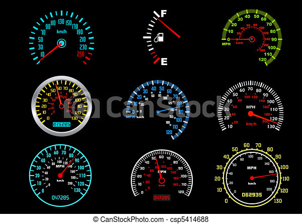 voiture, compteurs vitesse - csp5414688