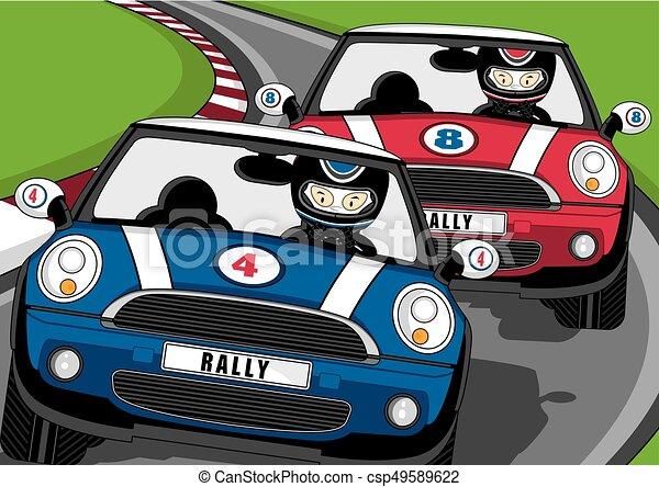 voiture conducteurs courses dessin anim csp49589622 - Voiture De Course Dessin Anim