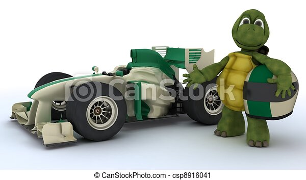 voiture courir, tortue - csp8916041