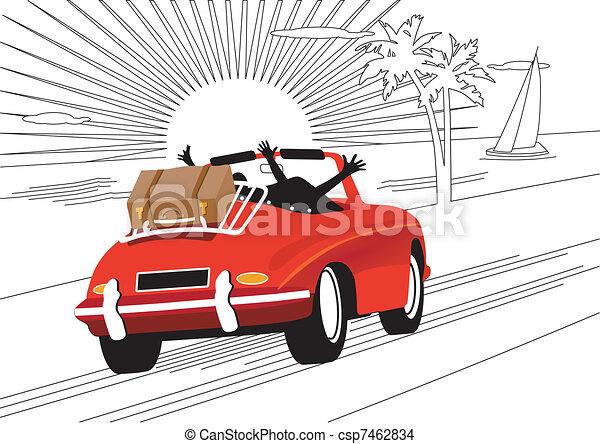 voiture, délassant, fetes - csp7462834