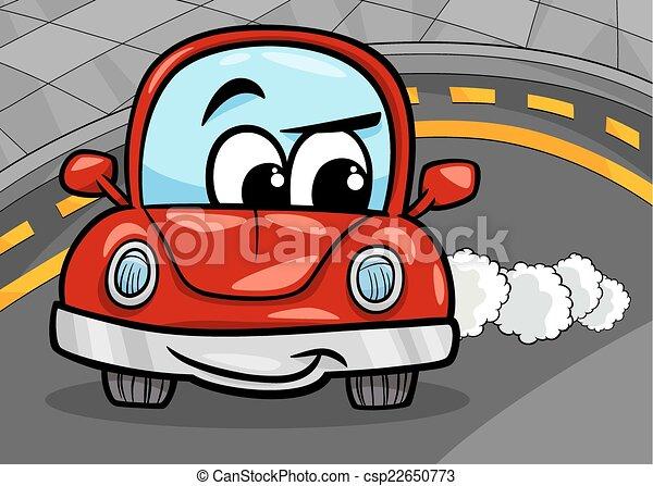 Voiture dr le dessin anim illustration retro voiture - Image voiture drole ...