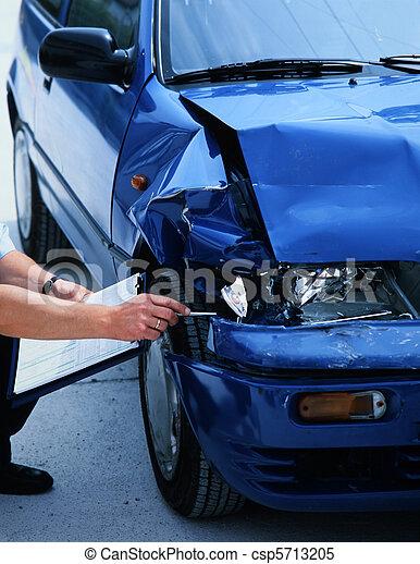 voiture, endommagé - csp5713205