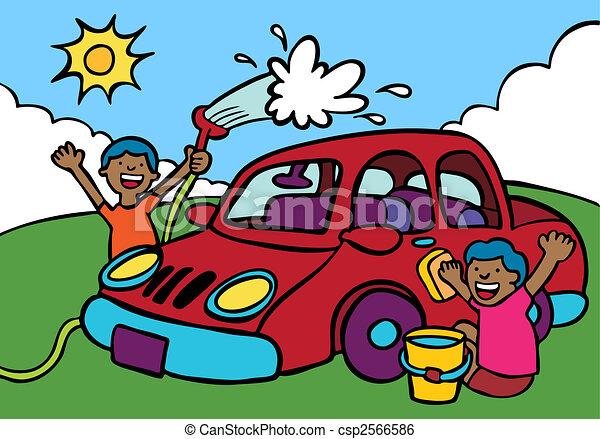 Voiture fundraiser laver ethnique lavage fundraiser voiture hommes laver vehicle - Coloriage car wash ...