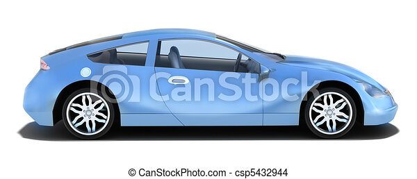 voiture, -, gauche, sport, vue côté - csp5432944