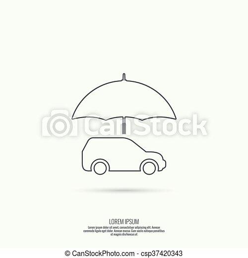 voiture, icône - csp37420343