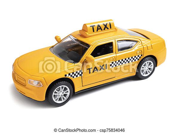 Voiture Jaune Jouet Taxi Fond Blanc Voiture Taxi Jaune Isolé Jouet Canstock