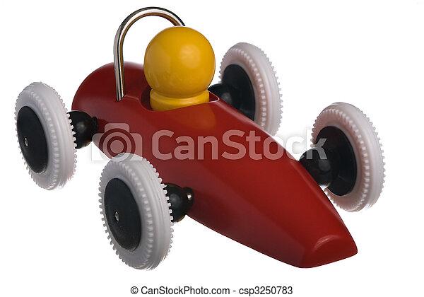 voiture, jouet enfant, rouges, course - csp3250783