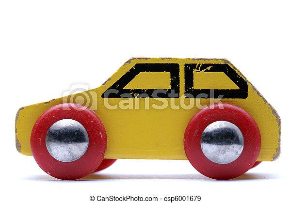 voiture, jouet, jaune - csp6001679