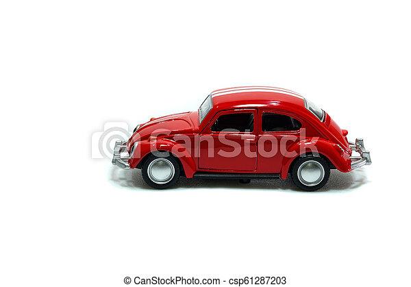 voiture, jouet, rouges - csp61287203