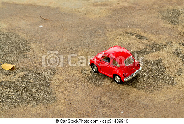voiture, jouet, rouges - csp31409910