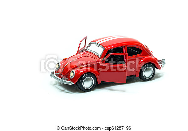 voiture, jouet, rouges - csp61287196