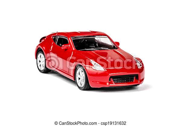 voiture, jouet, rouges - csp19131632