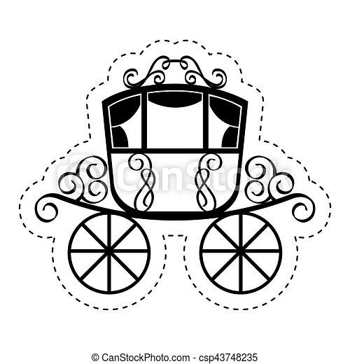 Voiture mariage isol ic ne isol illustration voiture vecteur conception mariage ic ne - Dessin voiture mariage ...