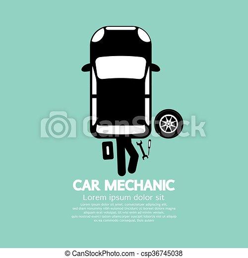 voiture, mechanic. - csp36745038