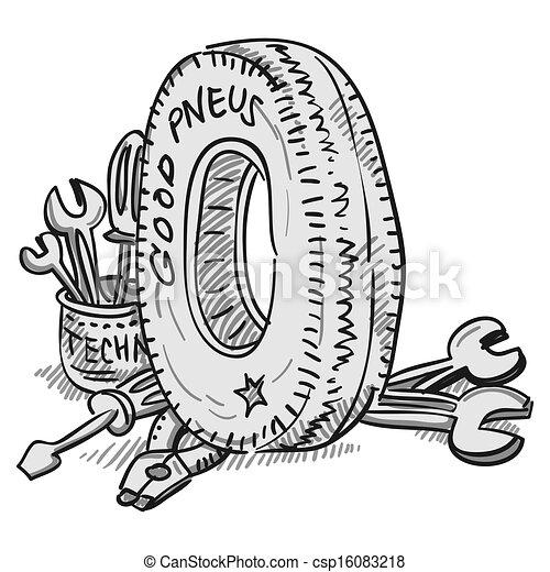 voiture outils pneu roue illustration caoutchouc clipart vectoris recherchez. Black Bedroom Furniture Sets. Home Design Ideas