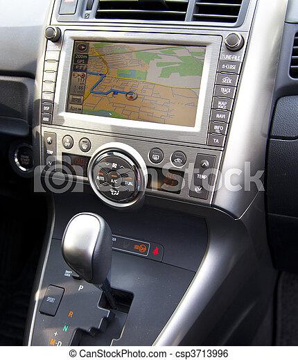 voiture, parcours, navigation, détail - csp3713996