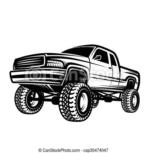 voiture pick up 4x4 camion de route voiture vecteur eps rechercher des clip art. Black Bedroom Furniture Sets. Home Design Ideas