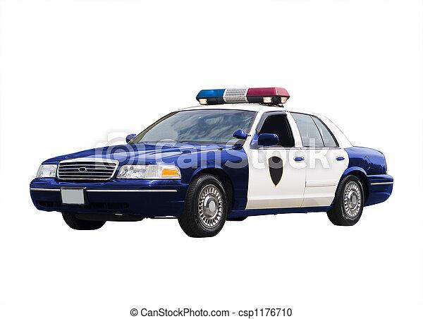 voiture, police - csp1176710