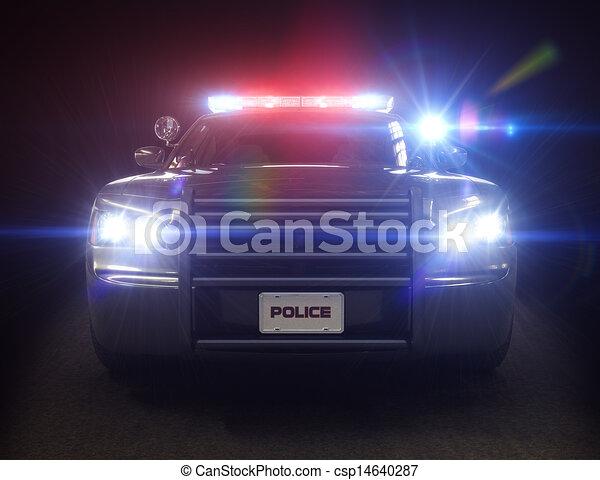 voiture, police, croiseur - csp14640287