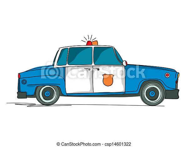 Voiture police dessin anim surveiller voiture sur fond blanc dessin anim - Voiture police dessin anime ...