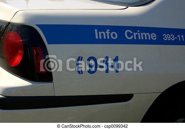 voiture, police - csp0099342