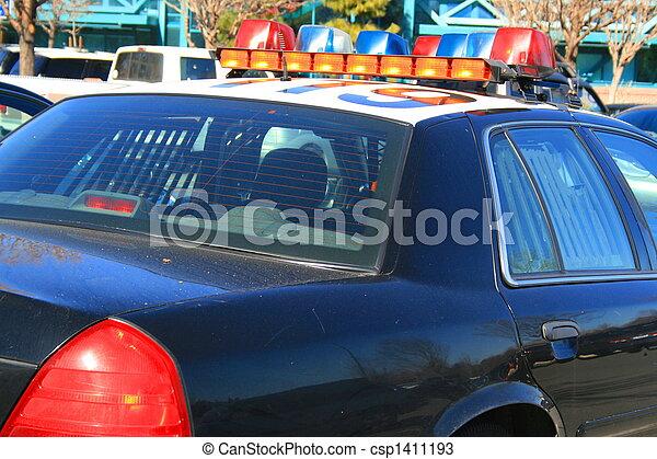 voiture, police - csp1411193