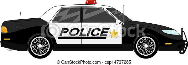 voiture, police - csp14737285