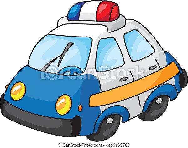 Voiture police illustration - Voiture police dessin anime ...