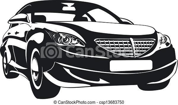 voiture, résumé, moderne - csp13683750