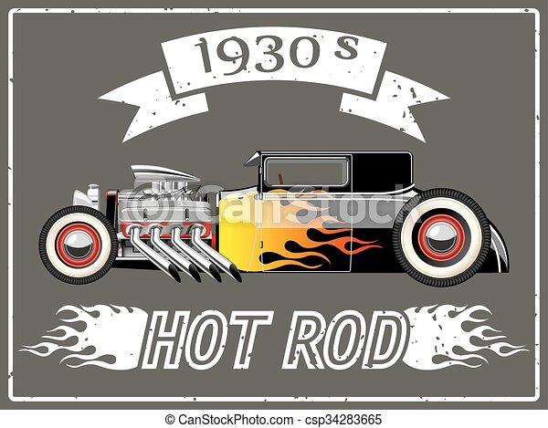 voiture, rod chaud - csp34283665