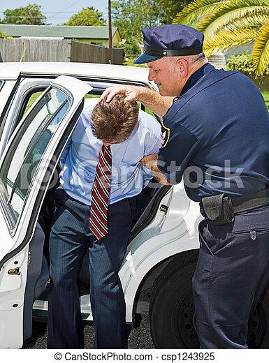 voiture, shoved, police - csp1243925