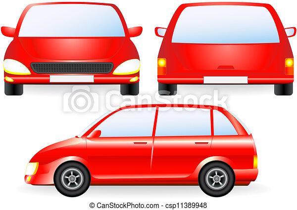 Voiture silhouette isol rouges profil voiture isol silhouette devant rouges ic ne - Voiture profil dessin ...