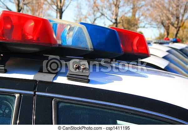 voiture, sirène, police - csp1411195